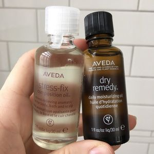 Aveda set of full size hair and skincare oils